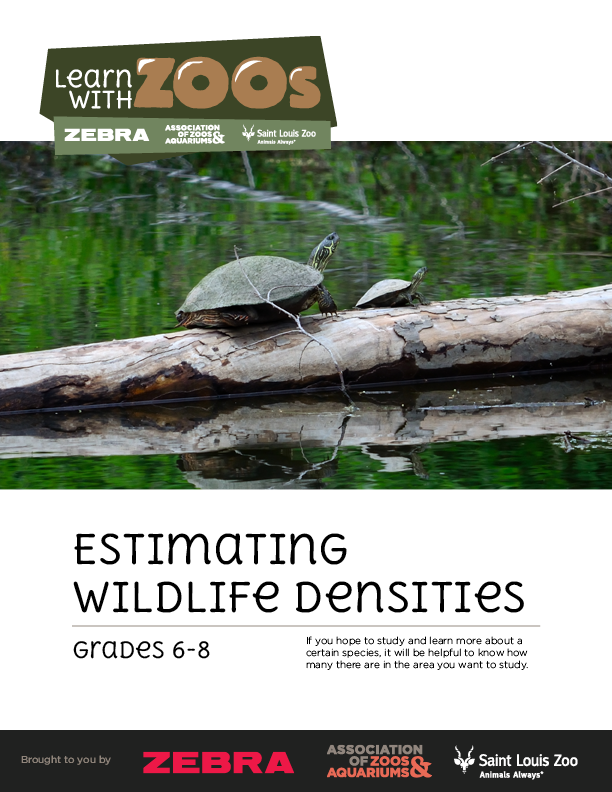 Estimating Wildife Densities lesson plan - 6-8